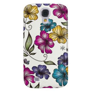Elegant Vintage Flowers Galaxy S4 Covers
