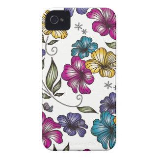 Elegant Vintage Flowers iPhone 4 Cover