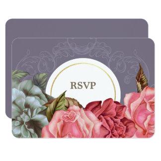 Elegant Vintage Flowers Painting RSVP Cards
