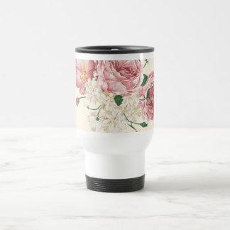 Elegant Vintage Flowers Travel Mug