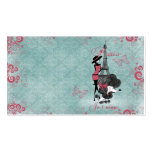 Elegant vintage French poodle girls silhouette Pack Of Standard Business Cards