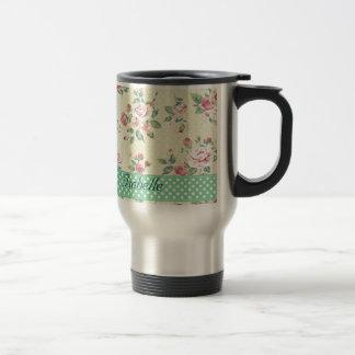 Elegant  vintage gentle floral mug
