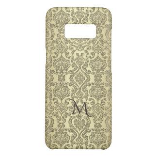 Elegant Vintage Gold Damask Monogram Case-Mate Samsung Galaxy S8 Case