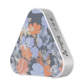 Elegant vintage grey violet orange floral pattern