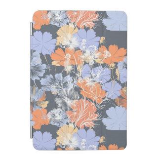 Elegant vintage grey violet orange floral pattern iPad mini cover