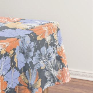 Elegant vintage grey violet orange floral pattern tablecloth