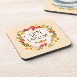 Elegant Vintage Happy Thanksgiving | Coaster