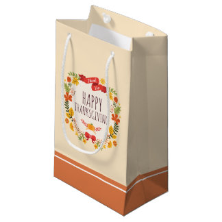 Elegant Vintage Happy Thanksgiving | Gift Bag
