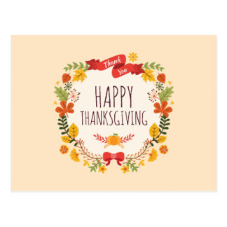 Elegant Vintage Happy Thanksgiving | Postcard