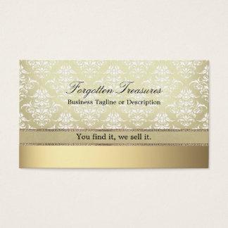 Elegant Vintage Light Golden Damask Business Card