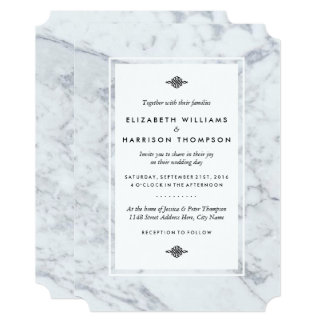 Elegant Vintage Marble Wedding Card