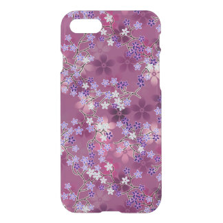 Elegant Vintage Oriental Purple Floral Pattern iPhone 8/7 Case