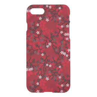 Elegant Vintage Oriental Red Floral Pattern iPhone 8/7 Case