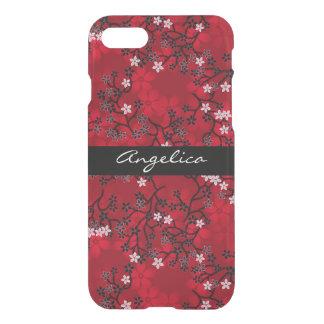 Elegant Vintage Oriental Red Floral Personalized iPhone 8/7 Case