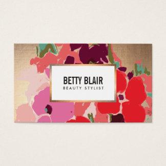 Elegant Vintage Painted Floral Art Designer Business Card
