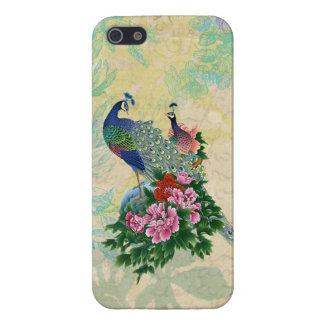 Elegant Vintage Peacocks Collage iPhone 5/5S Cases