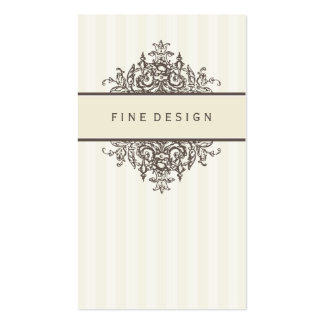 ELEGANT VINTAGE pretty beautiful renaissance ivory Pack Of Standard Business Cards
