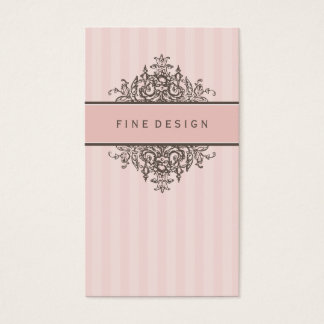 ELEGANT VINTAGE pretty beautiful renaissance pink Business Card