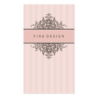 ELEGANT VINTAGE pretty beautiful renaissance pink Pack Of Standard Business Cards