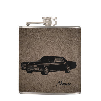 Elegant vintage retro old classy car personalized hip flask