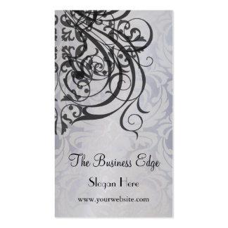 Elegant Vintage Rococo Black Business Card