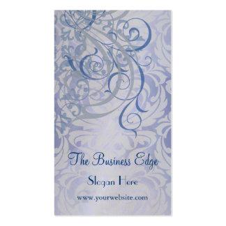 Elegant Vintage Rococo Blue Business Card