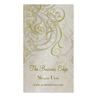Elegant Vintage Rococo Gold Business Card