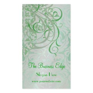 Elegant Vintage Rococo Green Business Card