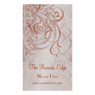 Elegant Vintage Rococo Orange Business Card