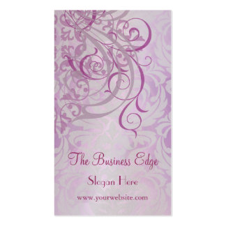 Elegant Vintage Rococo Pink Business Card