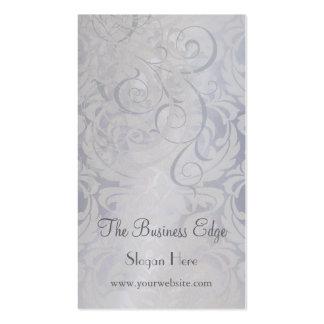 Elegant Vintage Rococo Silver Business Card