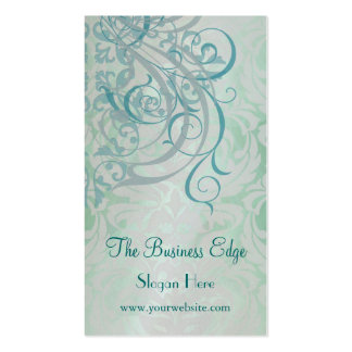 Elegant Vintage Rococo Teal Business Card