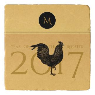 Elegant Vintage Rooster Year 2017 stone Trivet