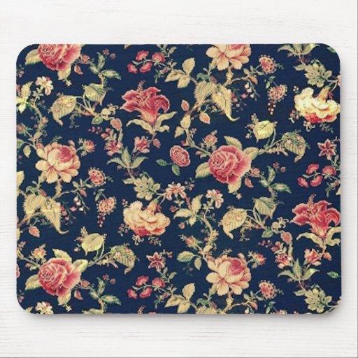 Elegant Vintage Rose Floral Mousepad