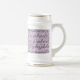 Elegant Vintage Script Typography Lettering Purple Mug