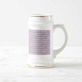 Elegant Vintage Script Typography Lettering Purple Mugs