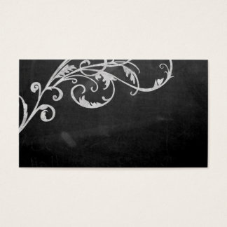 Elegant vintage scroll in chalk business card