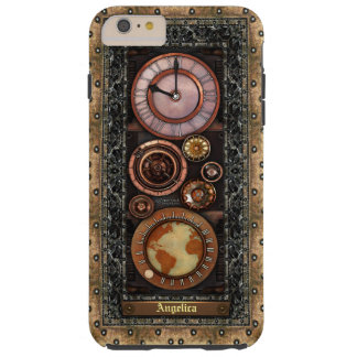 Elegant Vintage Steampunk Timepiece Tough iPhone 6 Plus Case