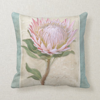 Elegant Vintage Style Modern Floral Chic Protea Cushion