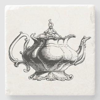 Elegant Vintage Teapot Stone Coaster