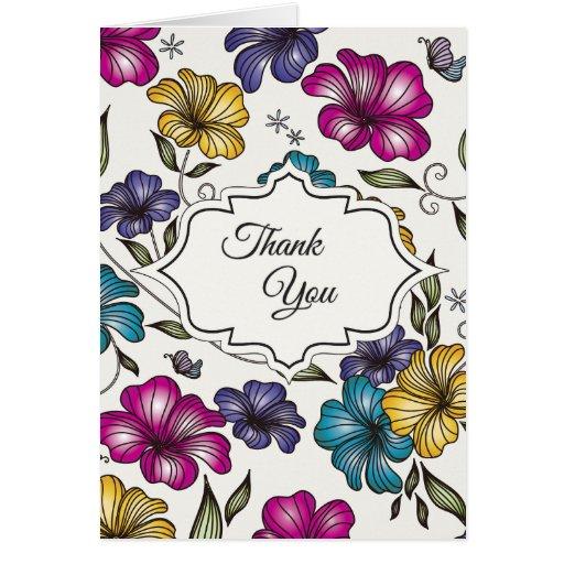 Elegant Vintage Thank You Greeting Card