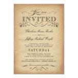 Elegant Vintage Typography Wedding Invitations