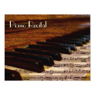 Elegant Vintage Unisex Piano Recital Invitations