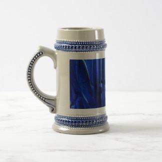 Elegant vintage victorian blue mug