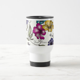 Elegant Vintage Victorian Flowers Stainless Steel Travel Mug
