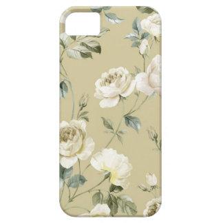 Elegant Vintage White Roses iPhone 5 Cases