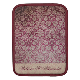 Elegant Vintage Wine Damask Pattern Custom Sleeve