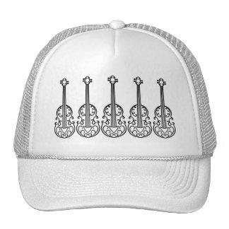 Elegant violin pattern cap