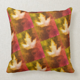 Elegant Warm Colors Natural Maple Leaf Design Cushion