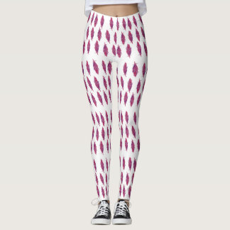 Elegant Watercolor feathers  Custom Leggings